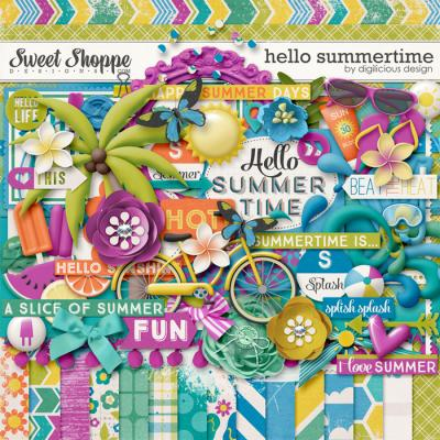 Hello Summertime Kit by Digilicious Design