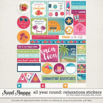 All Year Round: Relaxations Stickers by Traci Reed & Jady Day Studio