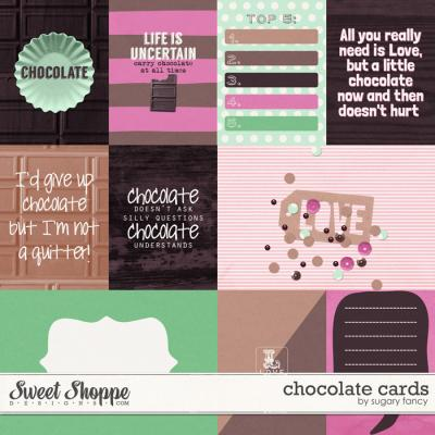 Chocolate Cards by Sugary Fancy