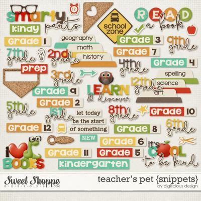 Teacher's Pet Snippets by Digilicious Design