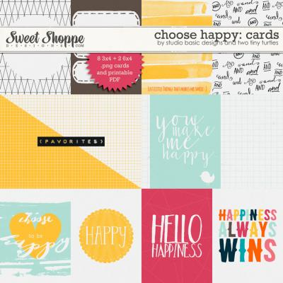 Choose Happy: Cards by Studio Basic and Two Tiny Turtles