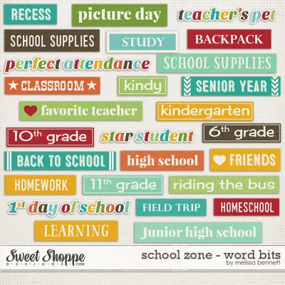 School Zone - Word Bits by Melissa Bennett