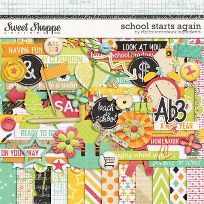 School Starts Again by Digital Scrapbook Ingredients