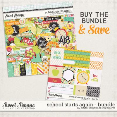 School Starts Again Bundle by Digital Scrapbook Ingredients