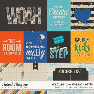 Excuse The Mess : Cards by Kristin Cronin-Barrow & Amanda Yi