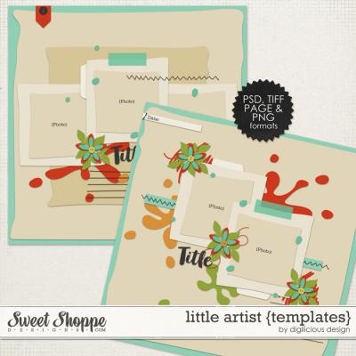 Little Artist Templates by Digilicious Design