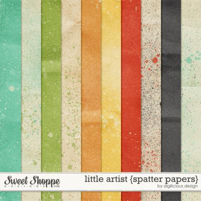 Little Artist Spatter Papers by Digilicious Design