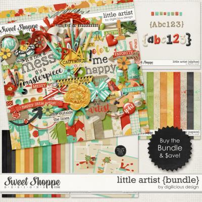 Little Artist Bundle by Digilicious Design