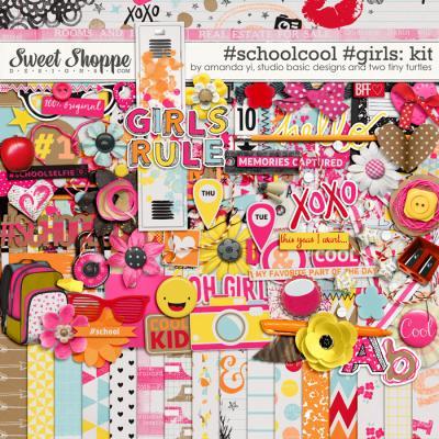 #Schoolcool #Girls Kit by Amanda Yi, Studio Basic Designs & Two Tiny Turtles