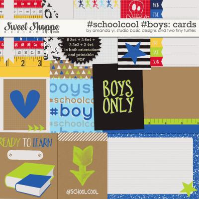 #Schoolcool #Boys Cards by Amanda Yi, Studio Basic Designs & Two Tiny Turtles