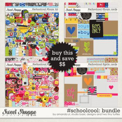 #Schoolcool #Boys & #Girls Bundle by Amanda Yi, Studio Basic Designs & Two Tiny Turtles