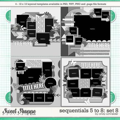 Cindy's Templates - Sequentials 5 to 8: Set 8 by Cindy Schneider