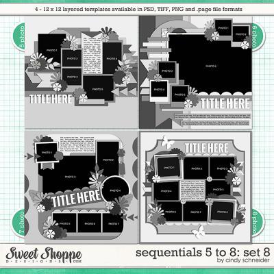 Cindy's Templates - Sequentials 5 to 8: Set 8 by Cindy Schneider