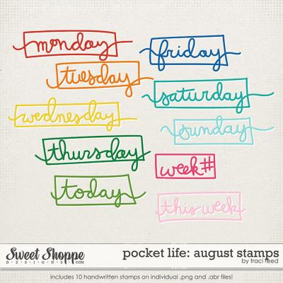 Pocket Life '15: August Stamps by Traci Reed