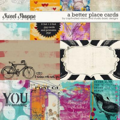 A better place: Cards by Captivated Visions and Studio Basic Designs