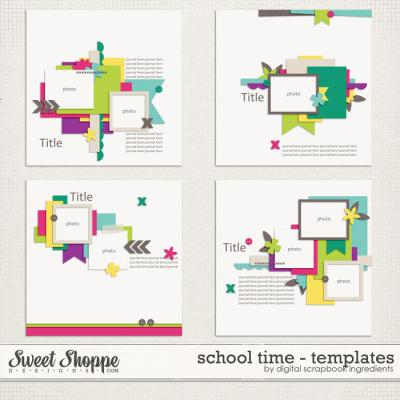 School Time Templates by Digital Scrapbook Ingredients