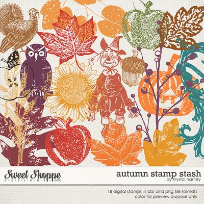 Autumn Stamp Stash by Krystal Hartley