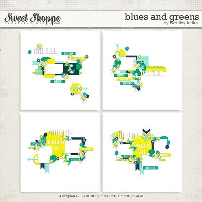 Blues And Greens by Two Tiny Turtles