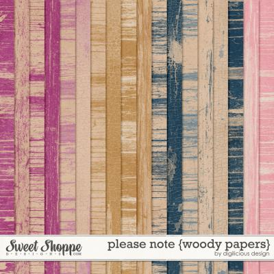 Please Note {Wood Papers} by Digilicious Design