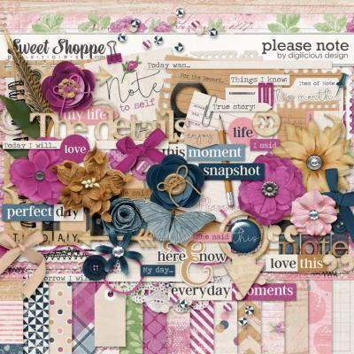 Please Note {Kit} by Digilicious Design
