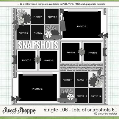 Cindy's Layered Templates - Single 106: Lots of Snapshots 62 by Cindy Schneider