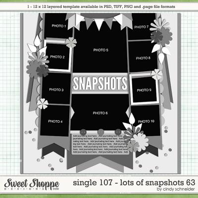 Cindy's Layered Templates - Single 107: Lots of Snapshots 63 by Cindy Schneider