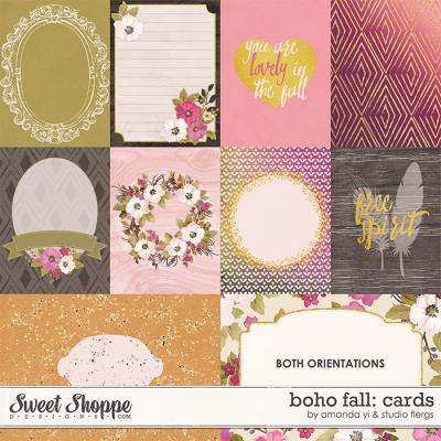 Boho Fall : Cards by Amanda Yi & Studio Flergs