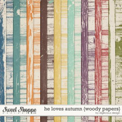 He Loves Autumn {Woody Papers} by Digilicious Design