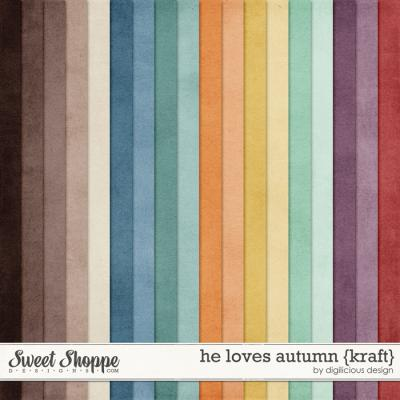 He Loves Autumn {Kraft} by Digilicious Design