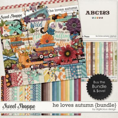 He Loves Autumn {Bundle} by Digilicious Design