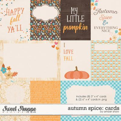 Autumn Spice: Cards by Amber Shaw