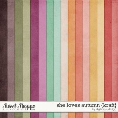 She Loves Autumn {Kraft} by Digilicious Design