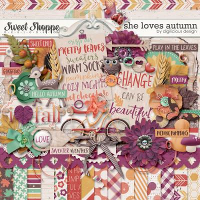 She Loves Autumn {Kit} by Digilicious Design