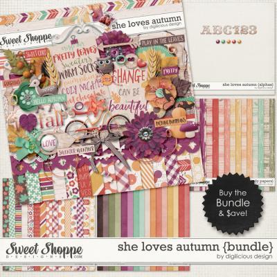 She Loves Autumn {Bundle} by Digilicious Design