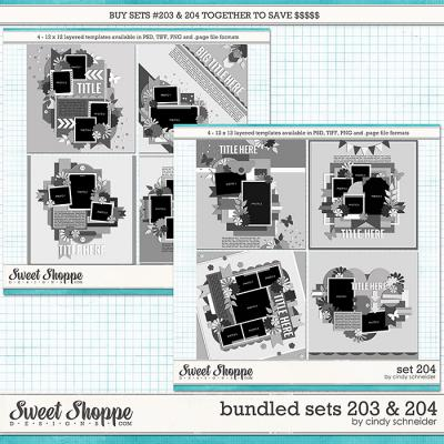 Cindy's Layered Templates - Bundled Sets #203-204 by Cindy Schneider