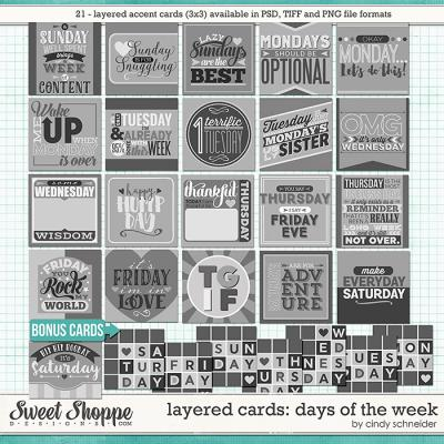 Cindy's Layered Cards - Days of the Week by Cindy Schneider