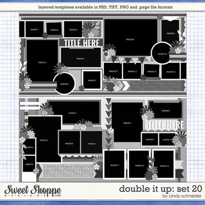 Cindy's Layered Templates - Double It Up Set 20 by Cindy Schneider