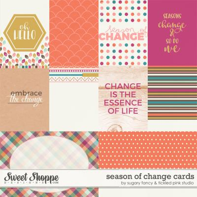 Season of Change Cards by Sugary Fancy & Tickled Pink Studio