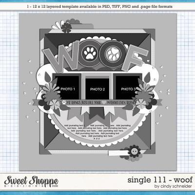 Cindy's Layered Templates - Single 111: WOOF by Cindy Schneider