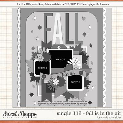 Cindy's Layered Templates - Single 112: Fall is in the Air by Cindy Schneider