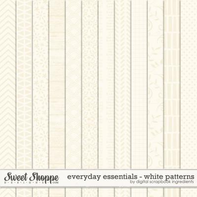 Everyday Essentials | White Patterns by Digital Scrapbook Ingredients