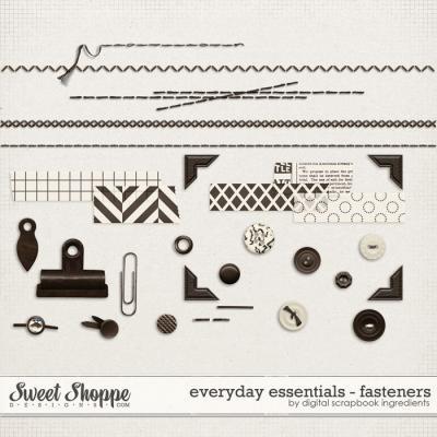 Everyday Essentials | Fasteners by Digital Scrapbook Ingredients