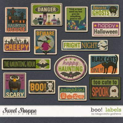 BOO! {Labels} by Blagovesta Gosheva