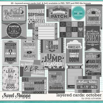 Cindy's Layered Cards - October Edition by Cindy Schneider