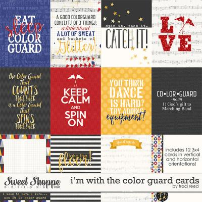 I'm With The Color Guard Cards by Traci Reed
