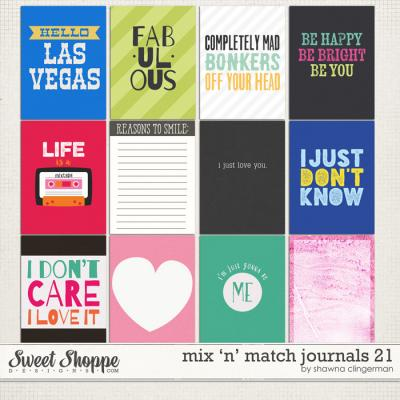 Mix 'n' Match Journals 21 by Shawna Clingerman