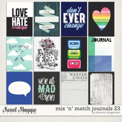 Mix 'n' Match Journals 23 by Shawna Clingerman