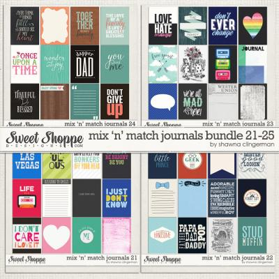 Mix 'n' Match Journals Bundle 21-24 by Shawna Clingerman