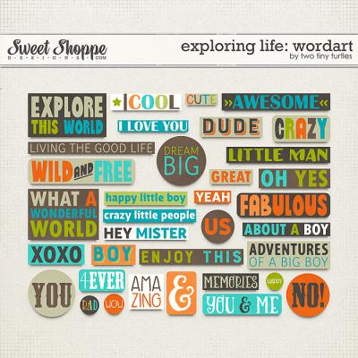 Exploring Life: Wordart by Two Tiny Turtles