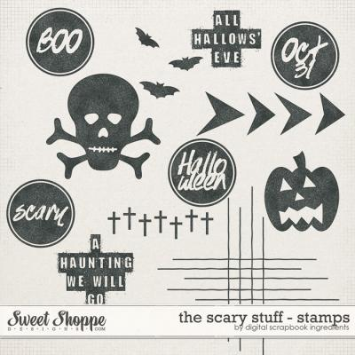 The Scary Stuff | Stamps by Digital Scrapbook Ingredients